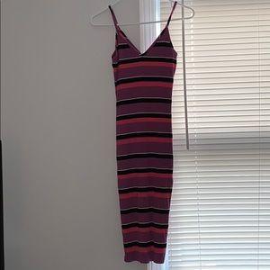 Pink/purple dress in women